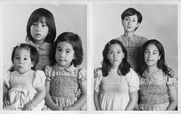 عکس قدیم خانواده در گذشته و جدید در حال