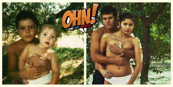 عکس قدیم دختر و پسر در گذشته و جدید در حال