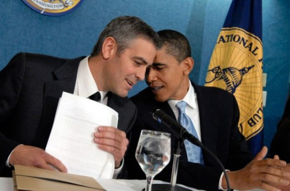 George Clooney and obama in iran