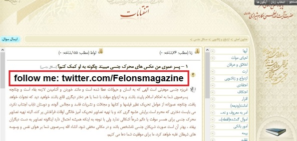 آیت الله العظمی مکارم شیرازی: تصاویر خانگی را جایگزین مجلات پورنو کنید
