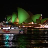 سالن اپرای مشهور سیدنی هم به رنگ سبز در آمده