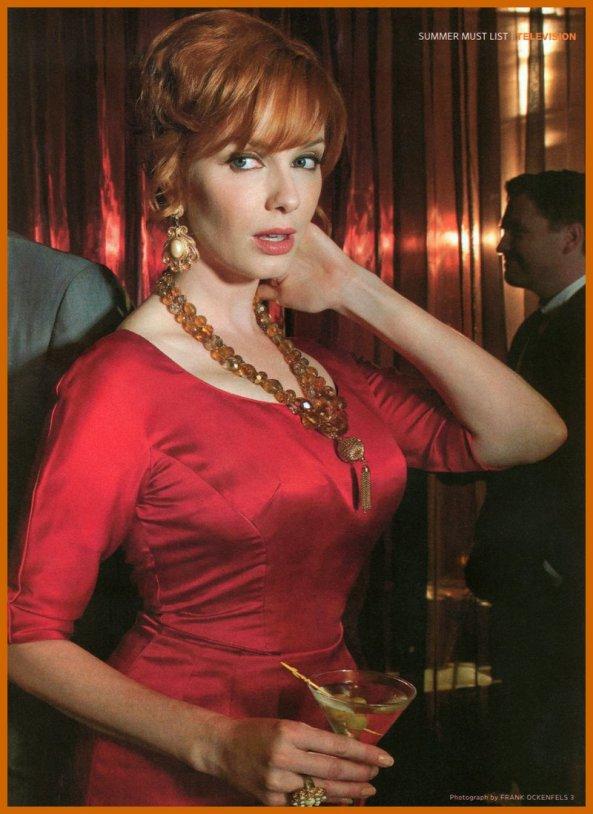 کریستینا هندریکس بازیگر سریال «مد من» سکسیترین مو قرمز در تاریخ سینما.