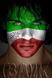 پوستر ba2k با چهره همجنسگرای ایرانی
