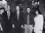 عکس یادگاری با حضور مونیکا لوینسکی در دفتر کار رئیس جمهور امریکا. آگوست 1995