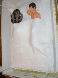 erotic multy racial bed cake
