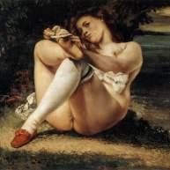 زنی با جورابهای سفید(بس بلانکز، همسر کوربه)، بنیاد بارنز، ۱۸۶۱