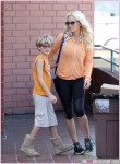 Exclusive...Jenny McCarthy Takes Her Son Evan Along to Pilates Class