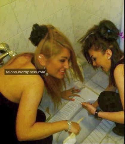 عکس خنده دار دختران ایرانی در توالت