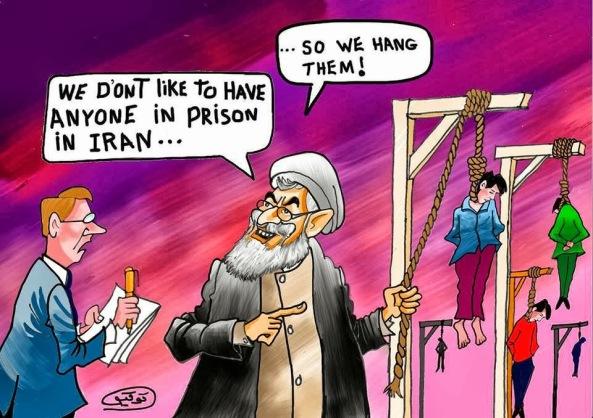 آخوند روحانی: ما دوست نداریم کسی رو در زندان داشته باشیم !!... بنابراین اونها رو دار می زنیم !