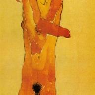 Jeune fille nue aux bras croises, detail, 1910