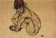 Kauernder Weiblicher Akt, 1914