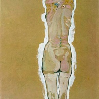 Nude Girl Standing, from the Backside, 1910