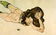 Nude Woman Lying on her Front , 1917