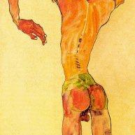 Stehender männlicher Rückenakt, 1910