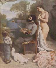 The painter's atelier, detail (1855)