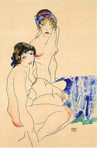 Two Female Nudes by the Water