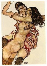 Two Women Embraced, 1915