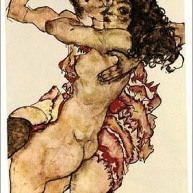 Two Women Embraced, 1915