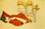 Wally Mit Roter Bluse, 1913