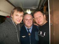 این رئیس قطار با همه بازیگران مشهور روس عکس یادگاری دارد (2)