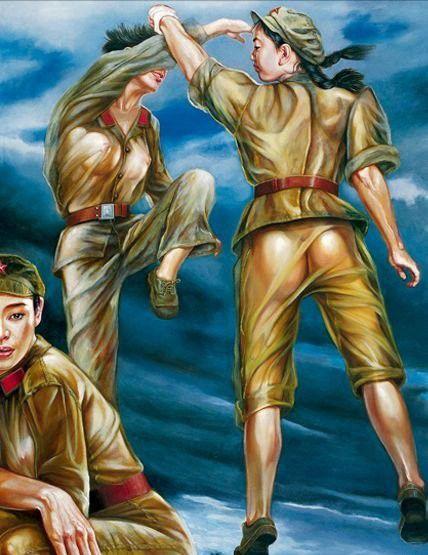 تصاویر دختران سکسی در ارتش سرخ چین (10)