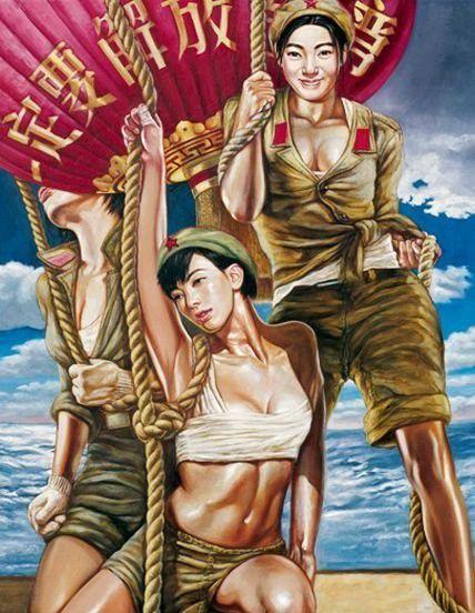 تصاویر دختران سکسی در ارتش سرخ چین (2)