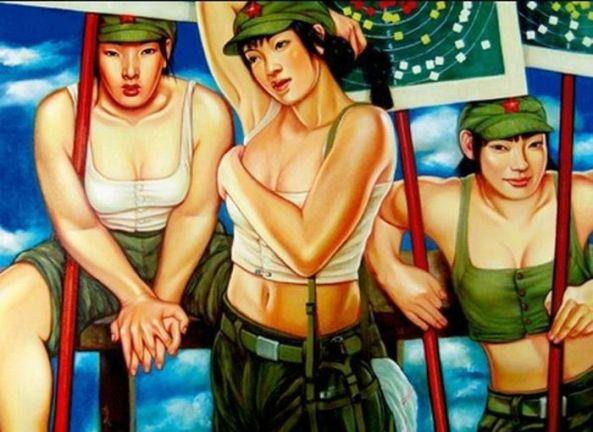 تصاویر دختران سکسی در ارتش سرخ چین (3)