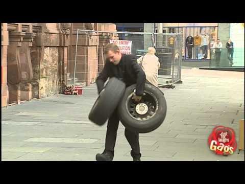 دوربین مخفی : سرقت لاستیک اتومبیل پلیس