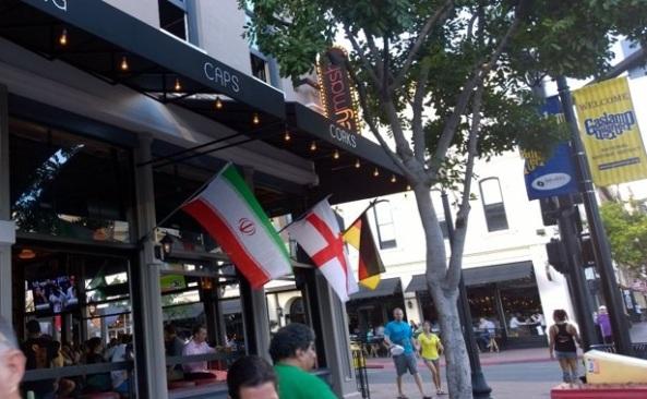 پرچم جمهوری اسلامی در آمریکا