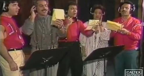 موزیک ویدیو قدیمی «صلح سفيد و آبی» با صدای مرتضی، معین و فتانه، اندی و کوروس
