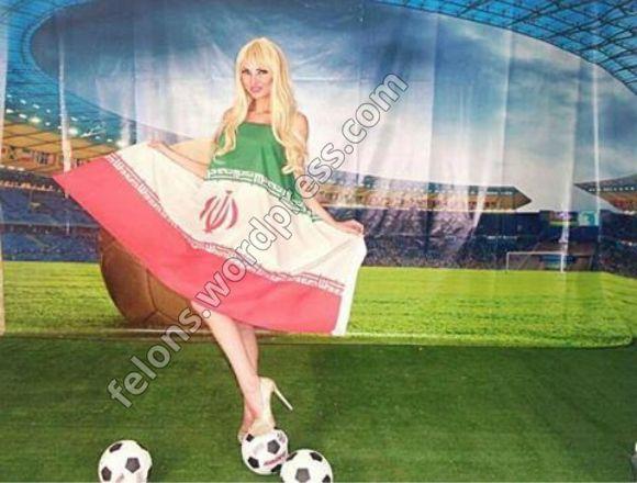 عکس سکسی مدل لبنانی و پرجم جمهوری اسلامی